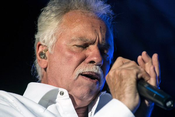 Joe Bonsall of The Oak Ridge Boys belts out a tune during the legendary group's 41st consecutive appearance at the Kentucky State Fair. 8/21/16