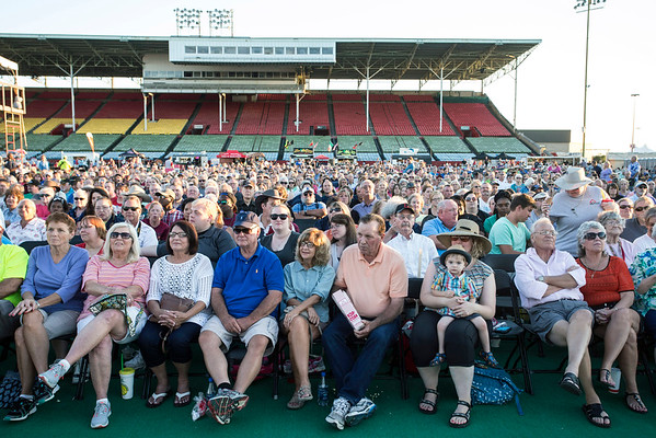 A crowd in the thousands waited for the 41st consecutive state fair appearance by the Oak Ridge Boys on Sunday night. 8/21/16