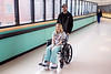 Trey and Adonna Decker traverse the pedway at Norton Hospital to visit the twins they delivered on New Year's Eve and New Year's Day--making the Louisville babies the last to be born in 2016 and the first born in 2017. 1/1/17