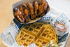 Five honey sriracha wings with a side waffle is another combo choice at Daddy Rich's. 1/4/17