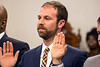 Brandon Coan is sworn in as the representative from District 8 on the Louisville Metro Council. 1/5/17