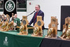 Trinity football head coach Bob Beatty, surrounded by some of the hardware he helped secure, spoke Tuesday morning during a celebration of the school's 24th state title. 1/10/17