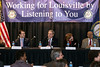 Congressman John Yarmuth welcomed a crowd in the hundreds for a forum on the repeal of the Affordable Care Act on Sunday at the Louisville Central Community Center. 1/15/17