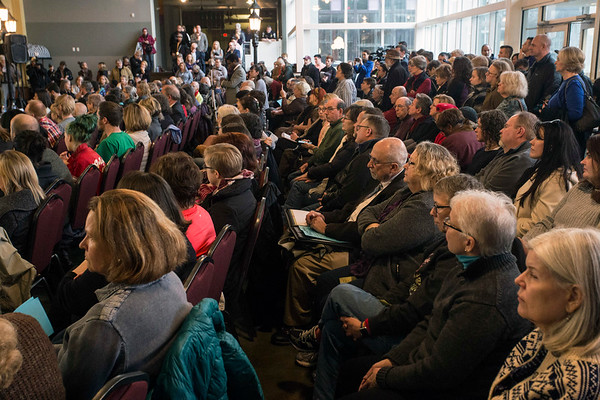 A mixed audience numbering in the hundreds met at the Louisville Central Community Center on Sunday to hear Congressman John Yarmuth and a panel of featured speakers and lawmakers address the repeal of the Afforable Care Act. 1/15/17