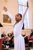 Myzanae Baskett dances in honor of Martin Luther King, Jr during the 32nd Annual Community Wide Celebration at the Cathedral on Saturday. 1/14/17