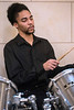 Drummer Demont Belt plays on during the 32nd Annual Community Wide MLK Celebration at the Cathedral of the Assumption on Saturday afternoon. 1/14/17
