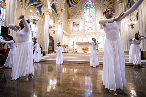 The African American Catholic Sacred Dance Ministry closed out the celebration of Martin Luther King, Jr on Saturday. 1/14/17