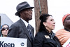 The Rev. Charles Elliott and Metro Council member Barbara Sexton Smith listen as citizens and leaders speak during a Saturday morning rally at the Kroger on 2nd Street. 1/21/17