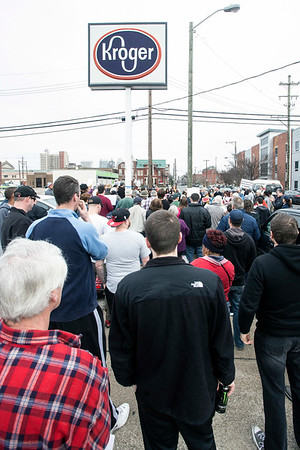 The Kroger in the 900 block of 2nd Street was the site of a rally on Saturday as the food chain announced plans to depart the neighborhood due to cost issues. 1/21/17
