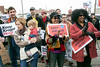 A large crowd gathered at the Kroger on 2nd Street Saturday morning to urge the grocery giant not to leave the neighborhood as planned. 1/21/17