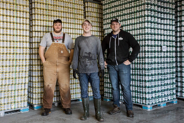 Matt Fuller, Zach Barnes, and Vince Cain are the men behind the Great Flood Brewing Company. 1/21/17