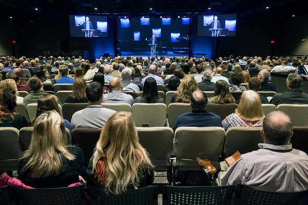 The worship center in the newly open LaGrange campus of Southeast Christian was near capacity for its first service on Sunday. 1/22/17