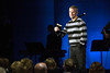 Southeast Christian-LaGrange campus pastor Brian Stites speaks to the newly formed congregation during the first service in the former Oldham 8 Theatres on Sunday. 1/22/17