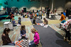 A large playroom is filled with children too energetic for the 930AM service at Southeast Christian in LaGrange. 1/22/17