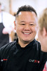Food Network celebrity chef and restaurateur Jet Tila chatted with St. X students during lunch at the school on Monday. 1/23/17