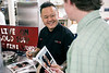 Food Network celebrity chef Jet Tila signed autographs for St. X students in the cafeteria on Monday as part of a school tour for food supplier FLIK. 1/23/17