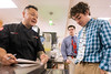 Food Network celebrity chef and restaurateur Jet Tila asked St. X student Ben Shannon if he could identify the fish on his tie during a Monday lunch meet-and-greet. 1/23/17