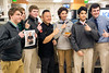 St. X students gather around Food Network celebrity chef Jet Tila during his Monday visit to the school cafeteria. 1/23/17