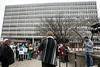 The Federal Building in downtown Louisville was the site of another anti-Trump rally on Tuesday morning as attendees voiced concerns for the president's cabinet nominees. 1/24/17