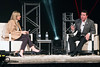 Papa John's founder John Schnatter talks about his career during an interview on Wednesday night in the Palace Theatre. 1/25/17