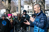 Local family physician Dr. Eli Pendleton spoke during a rally on Saturday as the National Save My Care Bus Tour rolled into Portland. 1/28/17