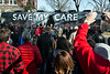 A crowd numbered in the sixties rallied in Portland on Saturday during a stop by the National Save My Care Bus Tour. 1/28/17