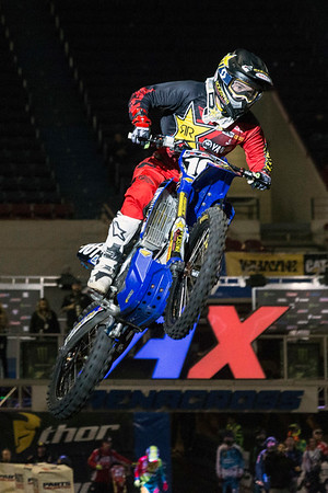 The high-flying action of the 2017 AMSOIL Arenacross Tour provided plenty of thrills at Freedom Hall on Saturday night. 2/4/17