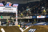 A series of riders take flight during a night of action at the 2017 AMSOIL Arenacross Tour. 2/4/17