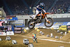A dirt course in Freedom Hall became a battlefield of riders during the 2017 AMSOIL Arenacross Tour on Saturday. 2/4/17