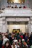 A crowd gathered both high and low in the capitol rotunda on Thursday for the annual Child Advocacy Day in Frankfort. 2/9/17