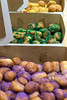 An order of king cake doughnut holes are ready for delivery during a busy Saturday afternoon at Hi-Five Doughnuts. 2/11/17