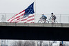 Cyclists enjoy the warmer than average February weather with a ride on the Big Four Bridge Saturday. 2/18/17