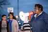 Barbara Boyd spoke during a rally outside of the Van Hoose Education Center on Tuesday night as calls for the resignation of JCPS superintendent Donna Hargens grow amongst parents and students. 2/21/17