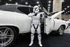 A stormtrooper protected the 1969 Chevelle owned by Jeff Weihe of Louisville, KY during the Carl Casper's Custom Auto Show. 2/25/17