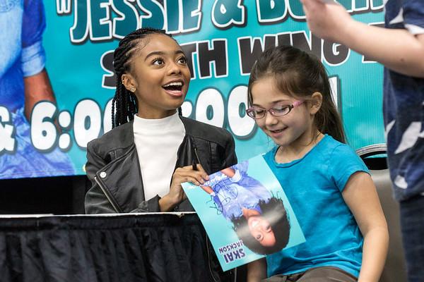 Disney television star Skai Jackson signed an autograph for Emily Brock during the Carl Casper's Custom Auto Show on Saturday. 2/25/17