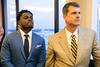 Michigan football standout Jabrill Peppers is joined by Michigan head coach Jim Harbaugh at the Galt House on Tuesday night for the annual Paul Hornung awards. 3/7/17