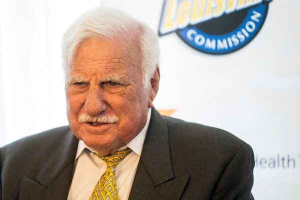 Legendary coach Howard Schnellenberger spoke to the media before the annual Paul Hornung awards on Tuesday night. 3/7/17