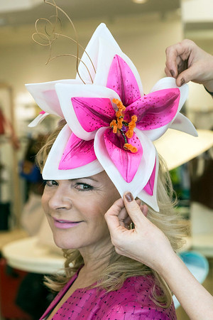 The eye-popping details of milliner Christine Moore's creations are always a hit at the Kentucky Derby. 3/9/17