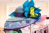 The hats created by milliner Christine Moore are rich in detail and color. 3/9/17