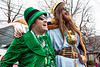 Hunter Graham and Jeremy Salmon celebrate the Irish during the St. Patrick's Parade on Saturday. 3/11/17