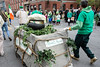 A Blarney Stone float made its way up Baxter Avenue during the St. Patrick's Parade on Saturday. 3/11/17