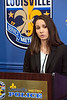 Lt. Emily McKinley of the LMPD spoke of the details behind a late night shooting at the Tim Faulkner Gallery in Portland that resulted in five injured and one dead. 3/19/17