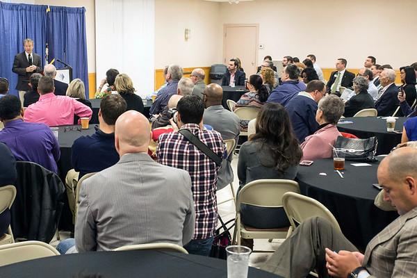 The St. Matthews Community Center was near capacity for a speech from Senator Rand Paul on Monday morning. 3/20/17