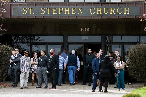 A memorial service was held for Faulkner Gallery gunshot victim Savannah Walker at St. Stephen Church on Friday afternoon. 3/24/17