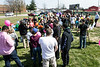 At crowd estimated at around 100 gathered near the girls lacrosse field at Ballard High on Saturday for a balloon release honoring gunshot victim and former student Savannah Walker. 3/25/17