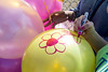Friends and former classmates of Savannah Walker decorated balloons for a release honoring Savannah Walker at Ballard High on Saturday. 3/25/17