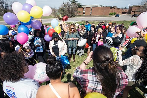 Ballard High was the site on Saturday of a memorial balloon release for recent gunshot victim Savannah Walker. 3/25/17