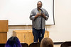 Better Days Records owner Ben Jones tells his tale during the Courier-Journal's Louisville Storytellers Project at the Shawnee Library. 3/27/17