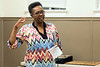 Dr. Aretha Fuqua recounts her life at the Courier-Journal's Louisville Storytellers Project at the Shawnee Library. 3/27/17