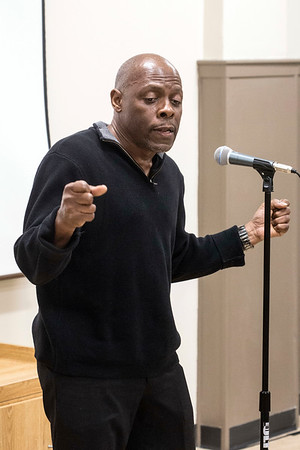 Artist Jon Roach was one of the performers at the Courier-Journal's Louisville Storytellers Project at the Shawnee Library. 3/27/17